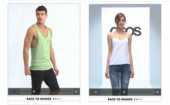 ASOS video content also differs based on audience — male vs. female.