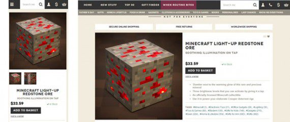 """The Firebox site displays its """"Add to Basket"""" button on mobile devices (at left) below the product image."""