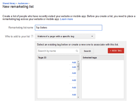"""""""Remarketing Lists for Search Ads"""" allow you to target past visitors when they are searching in Google."""