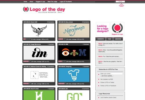 Logo Of The Day website
