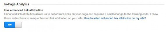 Set the toggle button to on to begin separately tracking multiple links to the same target page.