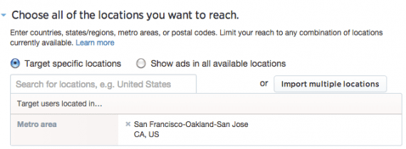 Twitter tailored audiences locations.
