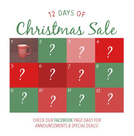 Facebook timeline post graphic featuring a Christmas sale.