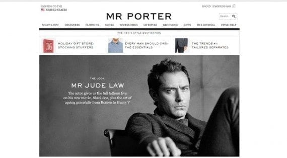 Jude Law is featured in a recent article on Mr. Porter's The Journal.