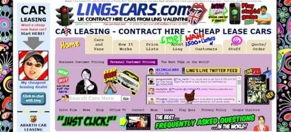 Ling's Cars uses many animated gif images.