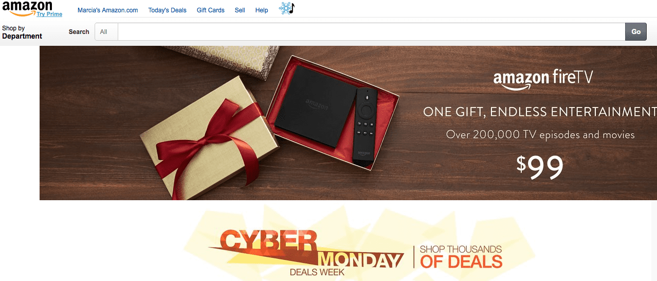 In 2014, Amazon extended Cyber Monday into Cyber Week.