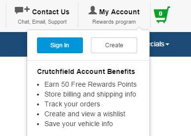 Crutchfield.com offers bonus rewards when you create an account. Something for nothing is always nice.