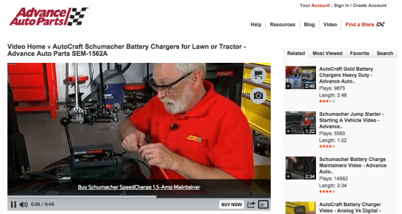 Advanced Auto Parts creates how-to videos that help its customers, and its brand.