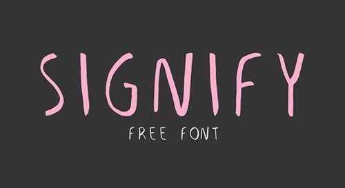 Signify font