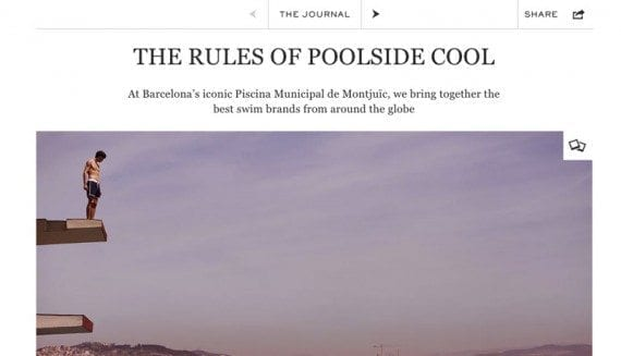 Mr. Porter is featuring summertime advice content in its Journal online magazine.