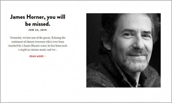 Mondo published a sincere post about James Horner passing.