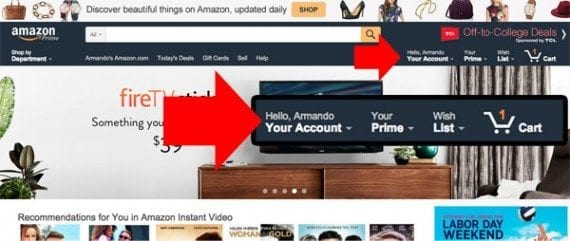 Amazon registers its users and greets them with personal recommendations. In ecommerce, registration is the best way to get to know your customers and better serve them.