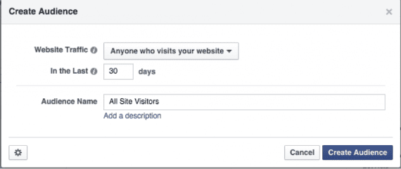 """Assign a name to our audience — """"All Site Visitors,"""" for example."""