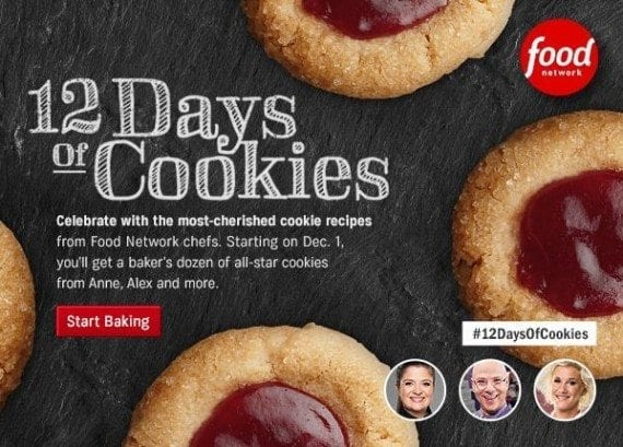 """Food Network's """"12 Days of Cookies"""" campaign in an annual tradition that recipients recognize and anticipate."""