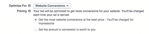 You have two ad-pricing choices: automatic or manual.