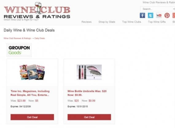 Example of an FMTC Pod featuring deals from Groupon.