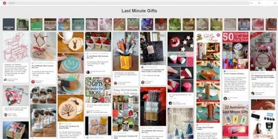 A gift idea pin board is a simple way to offer helpful content around Christmas.