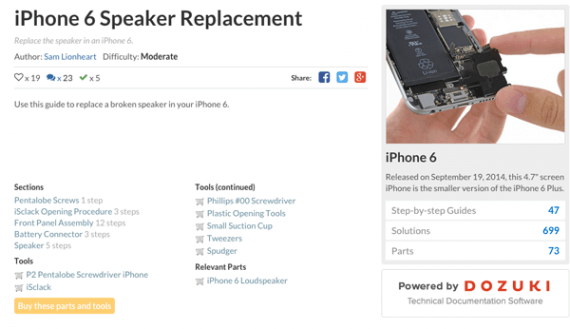 iFixit is both a community-driven electronic repair reference site and an online retailer of electronic parts and repair tools.