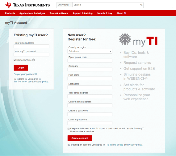 Texas Instruments enables visitors to personalize their web experience.
