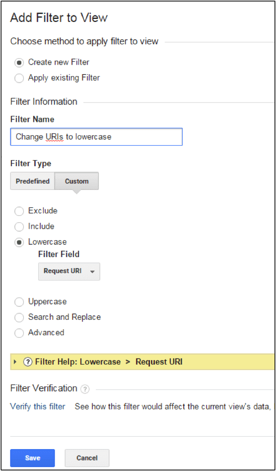 Implement a filter, to force all URLs and campaign parameters to record in lower case.
