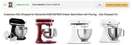 After adding a $300 mixer to my cart, Amazon recommended that I buy another one.