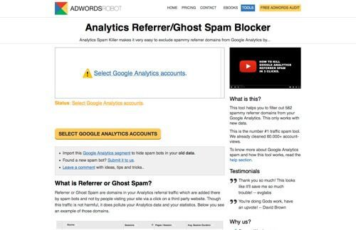Google Analytics Referrer Spam Killer.