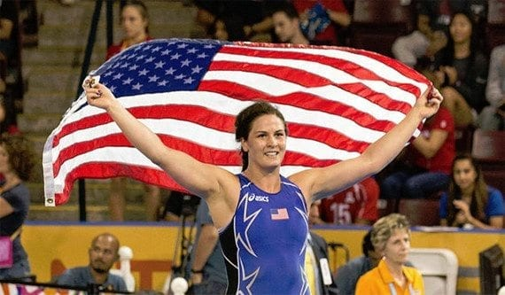 Adeline Gray of the U.S. is a contender for an Olympic Gold Medal in Women's Wrestling at the 2016 Summer Olympics. Online retailers may be able to receive endorsements from Olympic athletes. <em>Photo by Tabercil, Creative Commons License.</em>