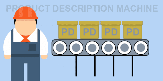 Thinking about writing product descriptions like a mechanical process may help some overcome writer's block and avoid duplicate content.
