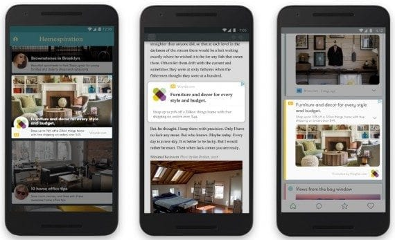 For display ads, Google will use content from advertisers and automatically generate ads that fit the medium, whether an app or a website, image or text. <em>(Click image to enlarge.)</em>