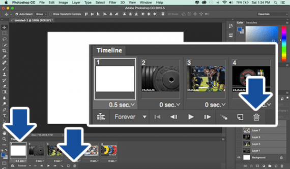If your animation included a blank background layer, you can remove it.