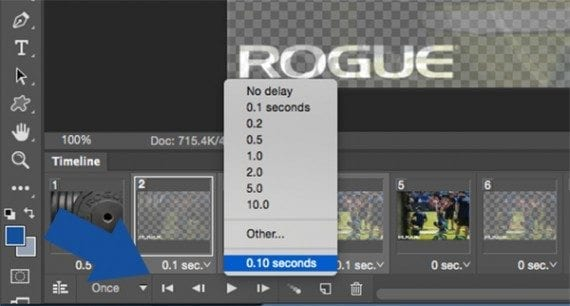 Photoshop allows you to set the duration each frame of the animation should appear.