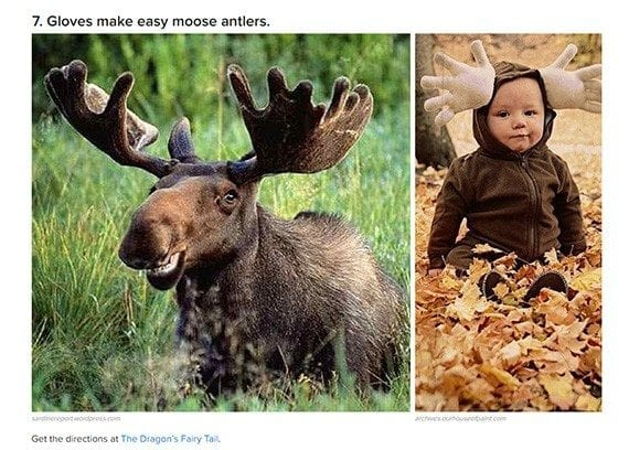 This moose costume idea from BuzzFeed is an example of the sort of suggestions content marketers can make.