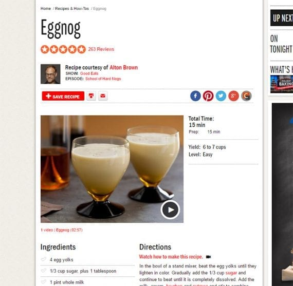 Publish your favorite eggnog recipe as part of your holiday content marketing.