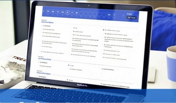 Eaton, the energy management supplier, allows buyers to customize hydraulic products online. Buyers can then download or print the specifications to share with their distributor.
