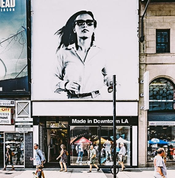 American Apparel is a manufacturer and retailer that has declared bankruptcy twice since 2015. Image: <em>Scott Webb.</em>