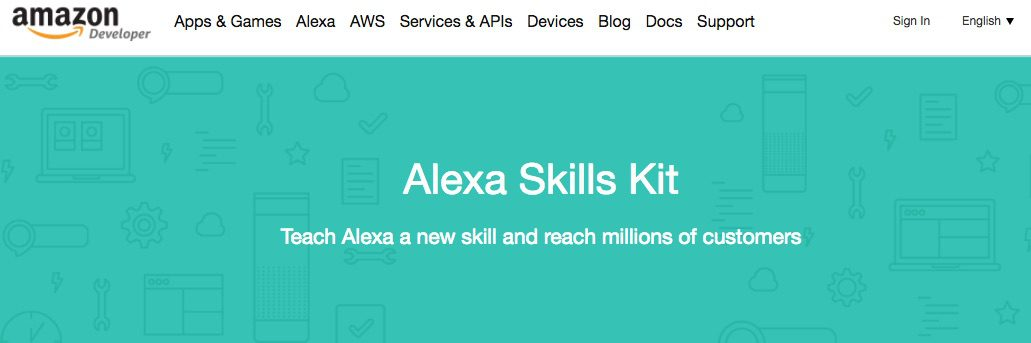 Amazon's Alexa Skills Kit is a collection of self-service APIs and tools that make it easier to create voice-driven capabilities for Alexa.