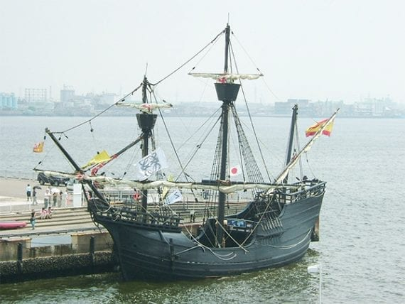 This replica of the Victoria was built in 2005. Imagine traveling around the world on a ship that size.