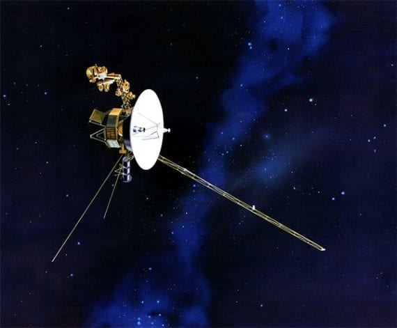 Voyager I has been traveling through space for 40 years.