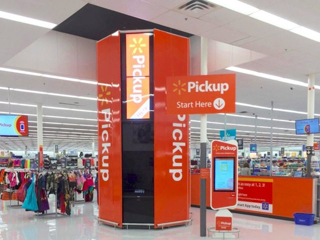 Walmart announced in July that it was expanding its pickup towers to 100 more stores, adding to the 20 that already exist. Customers who place an in-store pickup order online receive an order number and digital receipt.