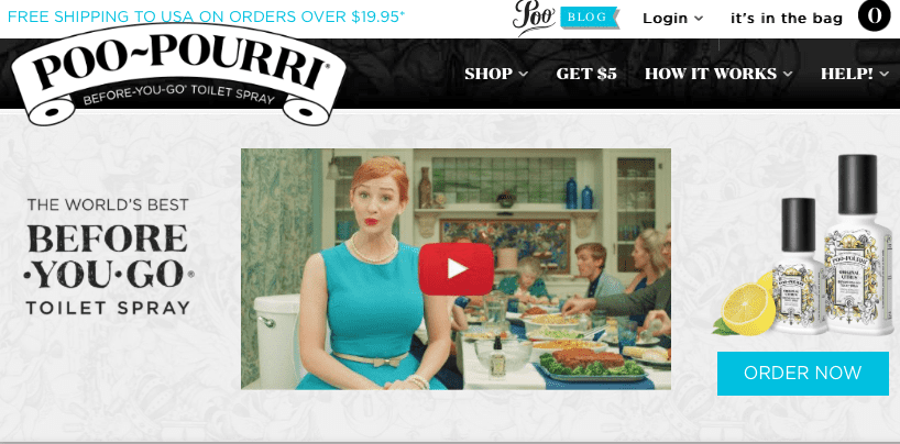 Poo-Pourri's landing page CTA is crystal clear.