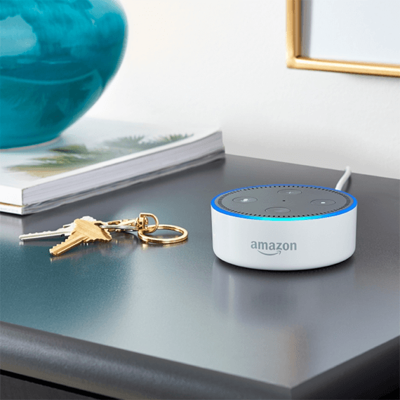 The Amazon Echo Dot, which costs roughly $30, is an example of one of the many voice-enabled, internet-connected devices.
