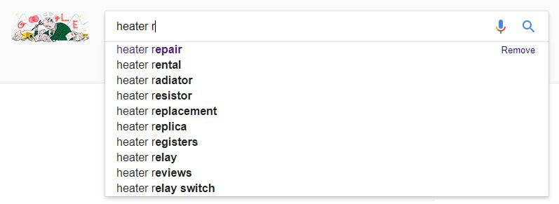 Use Google auto-fill results to identify potential negative keywords.