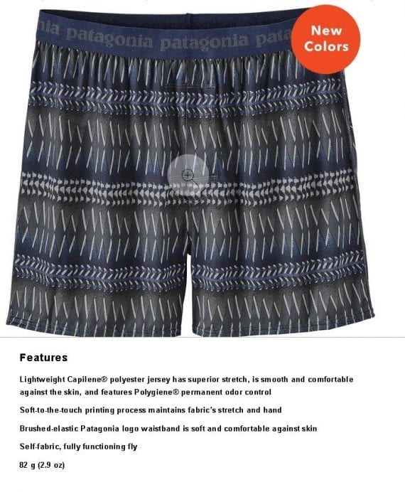 """When Patagonia describes its boxer shorts as """"comfortable against the skin"""" and """"soft to the touch,"""" rather than just """"comfortable"""" or """"soft,"""" the shopper imagines how the shorts would feel when worn."""