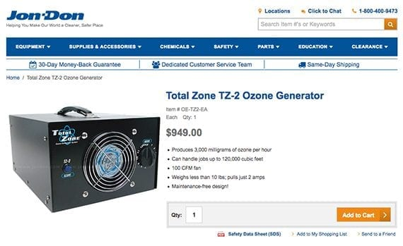 Ozone machines are good for wrestlers, but other consumers may have questions and may seek answers on search engines.