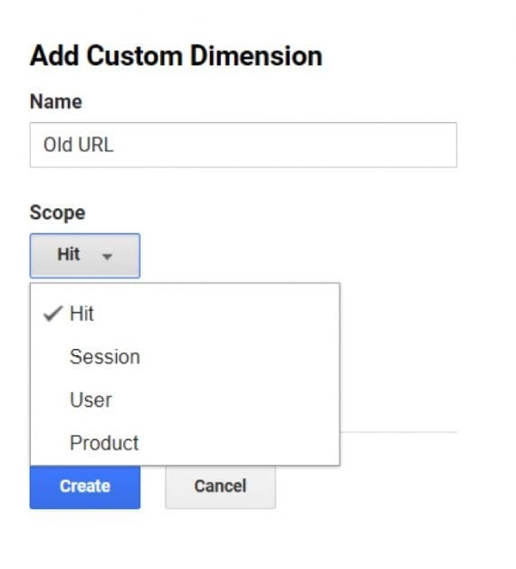 This Hit-level Custom Dimension tracks the activity of a previous URL, before a replatform, for example.