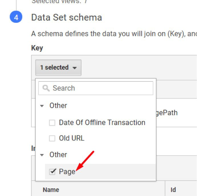 """Select """"Page"""" for the key."""