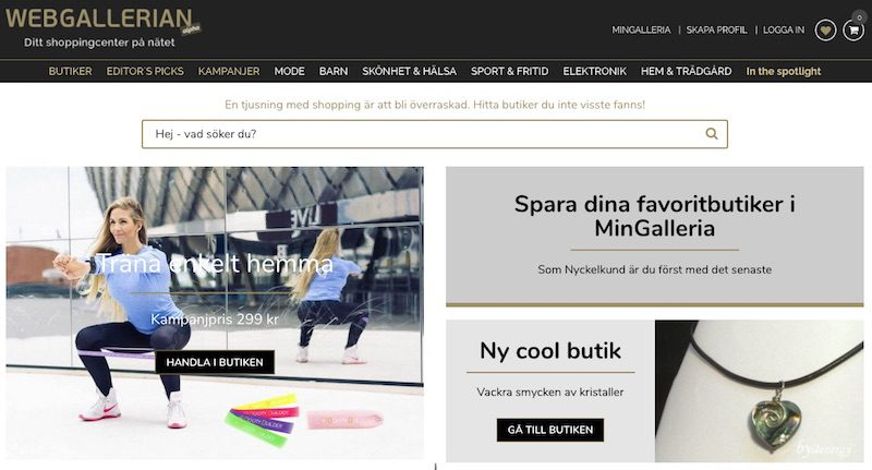Webgallerian, a Swedish online marketplace, wants to be the Amazon or Alibaba of the region.