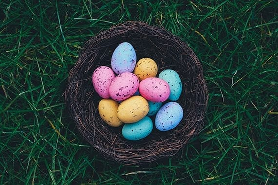 Easter is one of the April holidays that can inspire your business's content marketing. <em>Photo: Annie Spratt.</em>