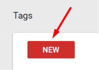 "Add the Google Analytics tag to GTM by clicking on ""New."""