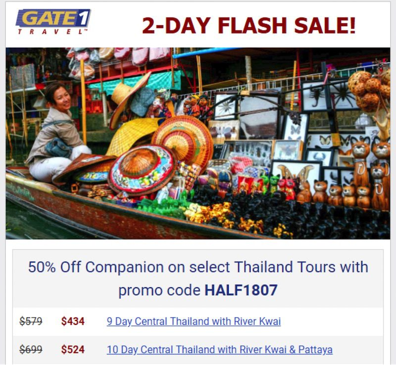 Gate 1 Travel's email strategy is focused on mid-funnel prospects, those that have engaged with the company but have yet to convert.
